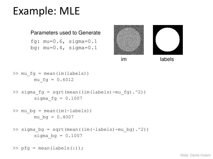 Example: MLE