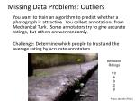 missing data problems outliers1
