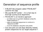 generation of sequence profile