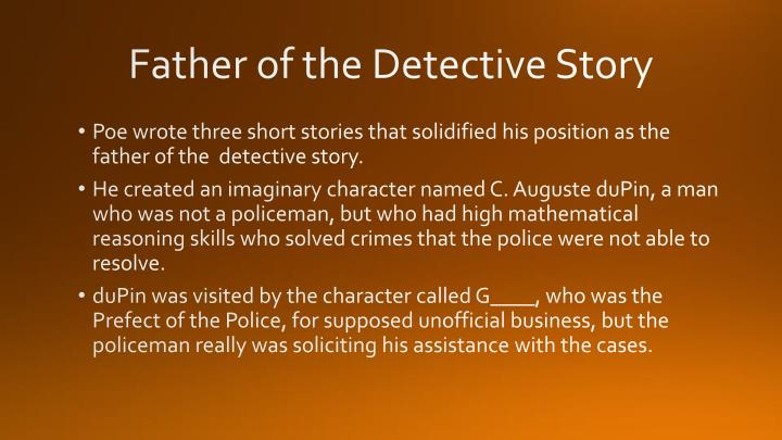 Father of the Detective Story