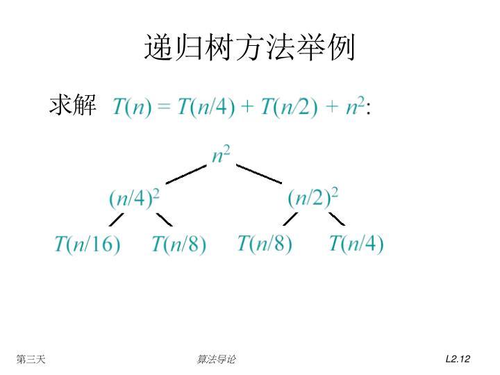 递归树方法举例