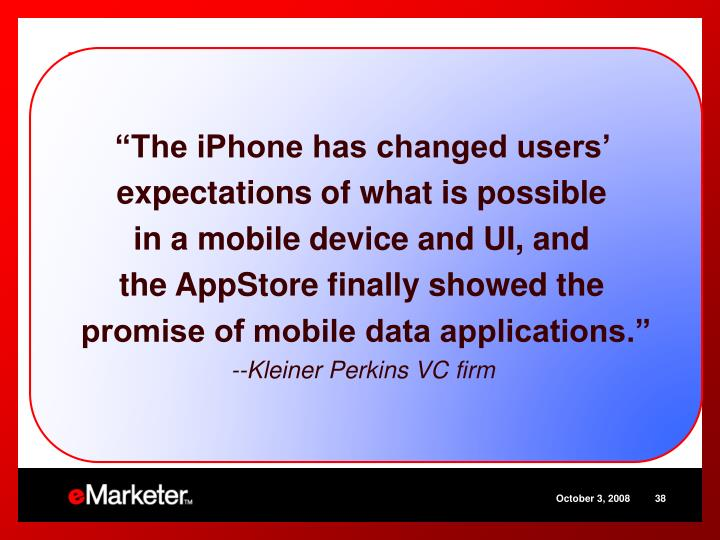 """The iPhone has changed users'"