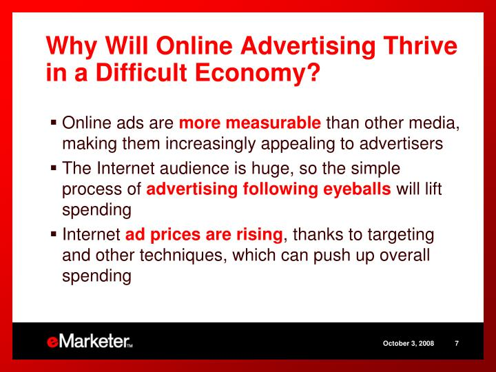 Why Will Online Advertising Thrive in a Difficult Economy?