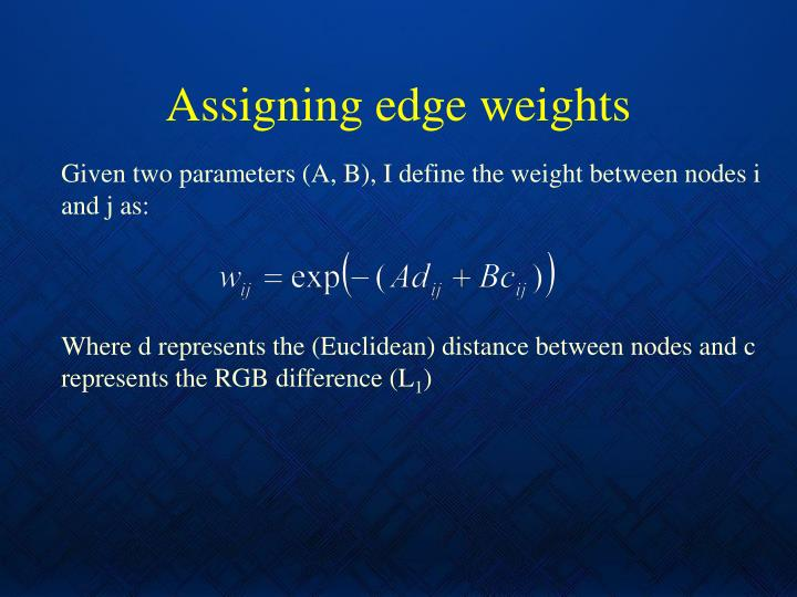Assigning edge weights