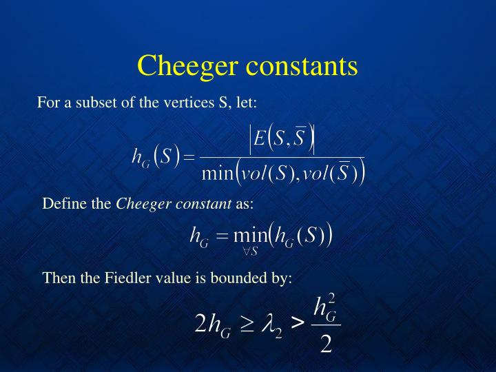 Cheeger constants