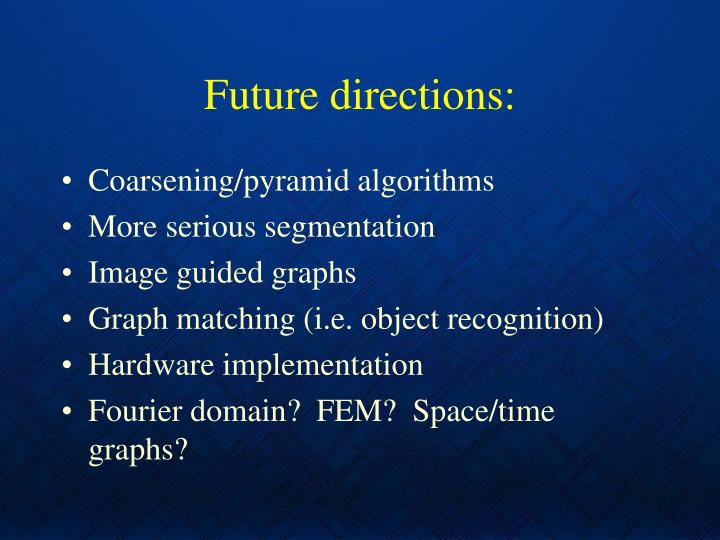 Future directions: