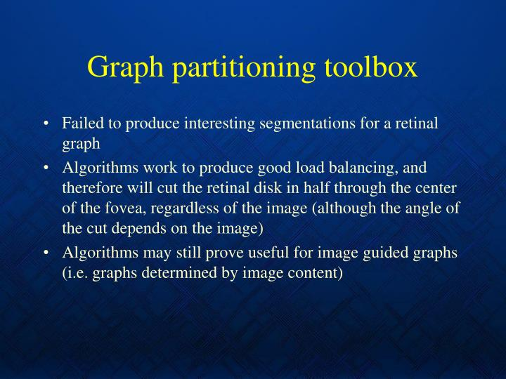Graph partitioning toolbox
