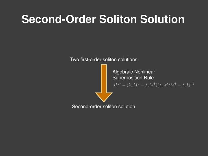 Two first-order soliton solutions