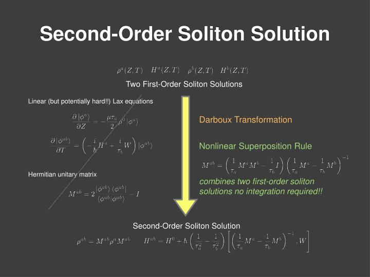 Second-Order Soliton Solution