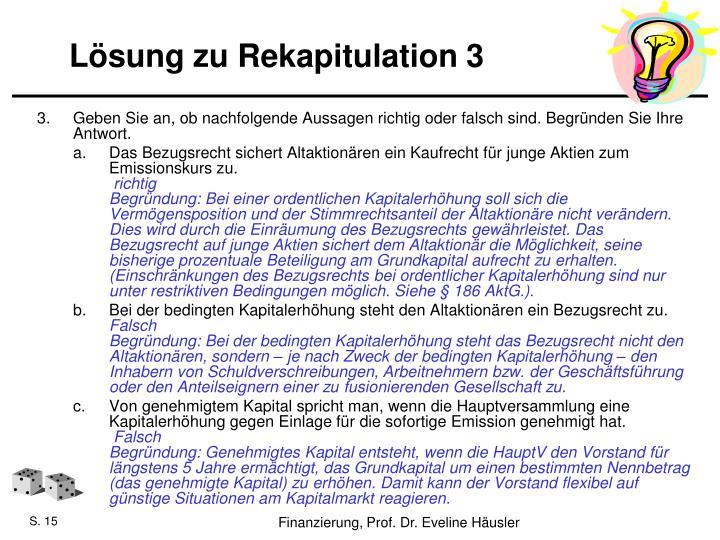 Lösung zu Rekapitulation 3