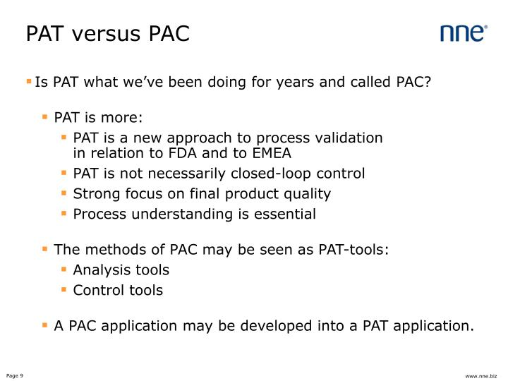 PAT versus PAC