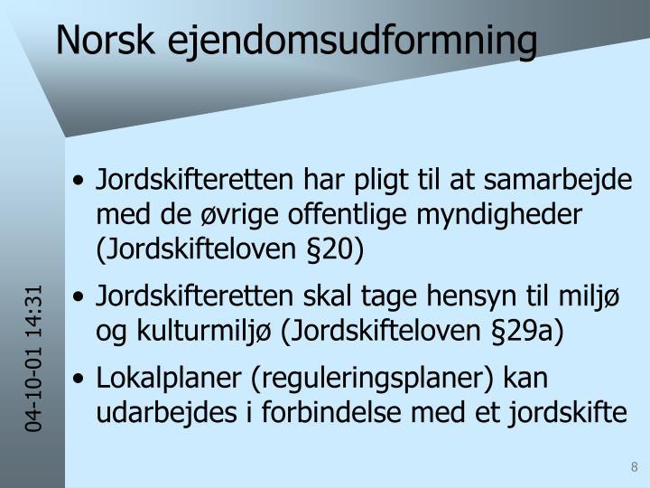 Norsk ejendomsudformning