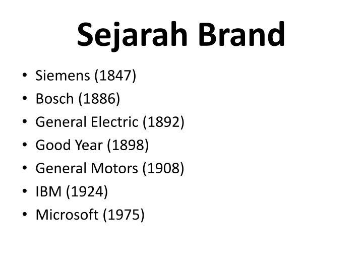 Sejarah Brand
