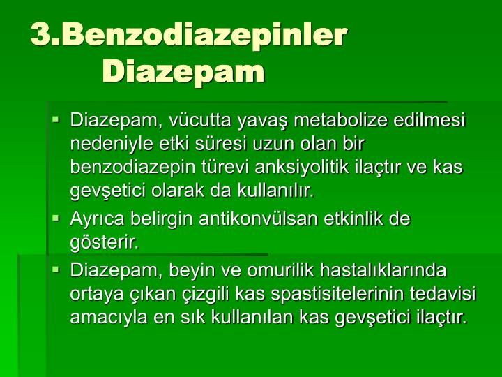 3.Benzodiazepinler