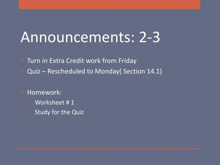 Turn in Extra Credit work from Friday