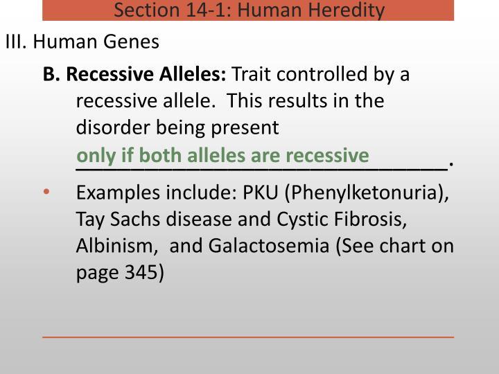 III. Human Genes
