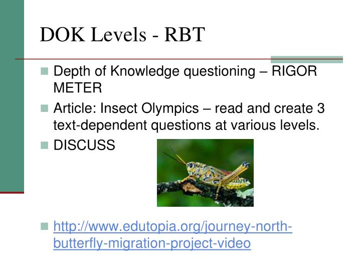 DOK Levels - RBT