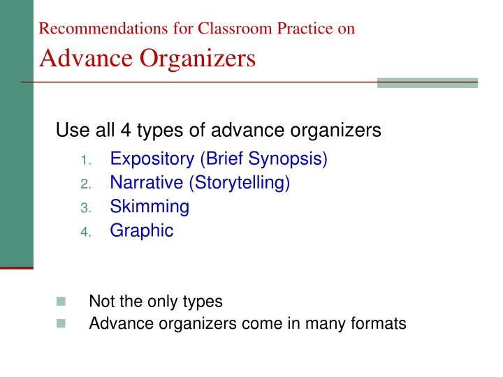 Recommendations for Classroom Practice on