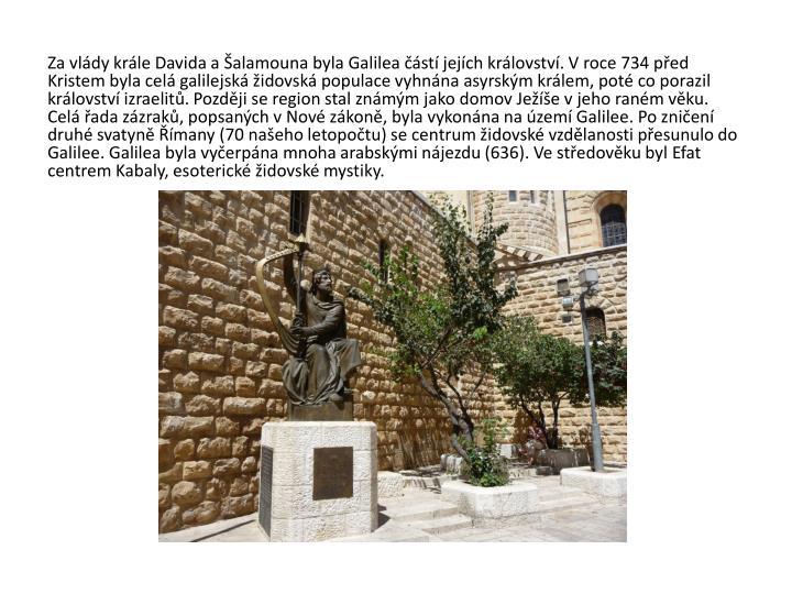 Za vlády krále Davida a