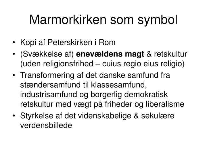 Marmorkirken som symbol
