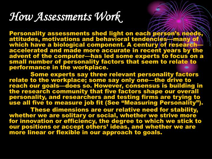 How Assessments Work