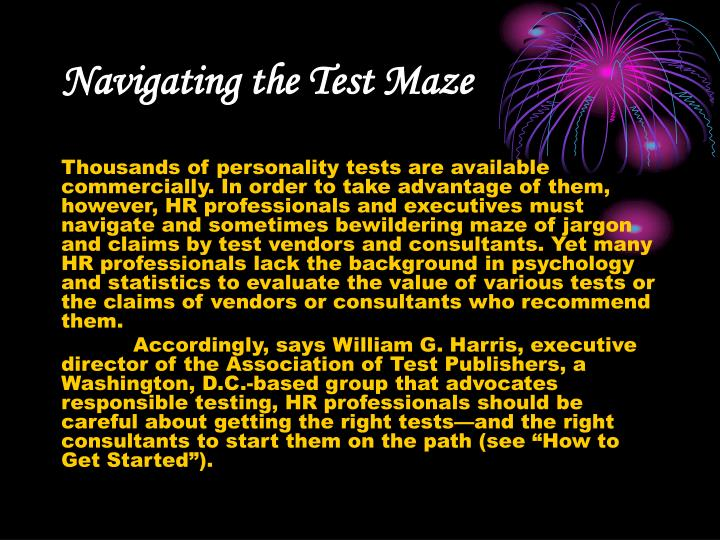 Navigating the Test Maze