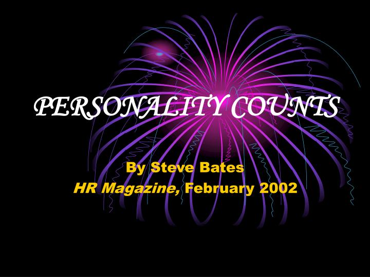 PERSONALITY COUNTS