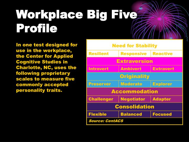 Workplace Big Five Profile