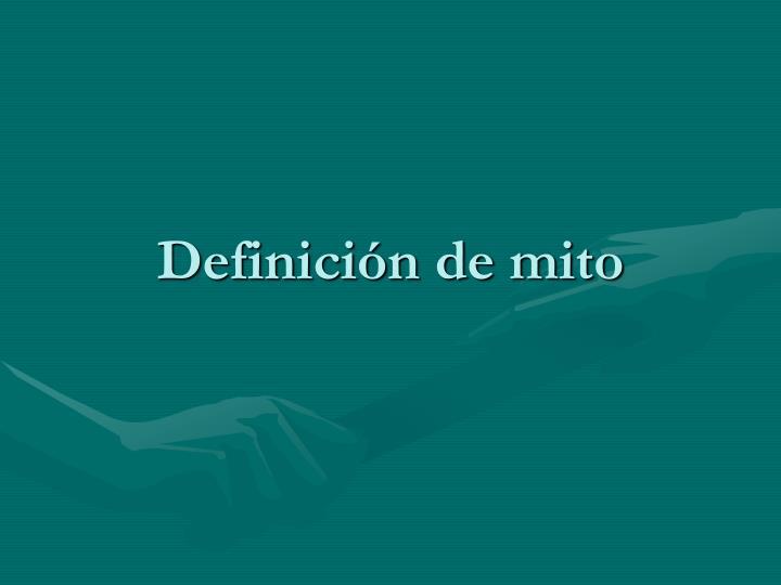 Definición de mito