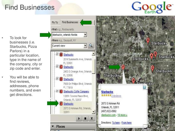 Find Businesses