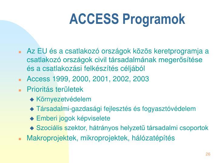 ACCESS Programok