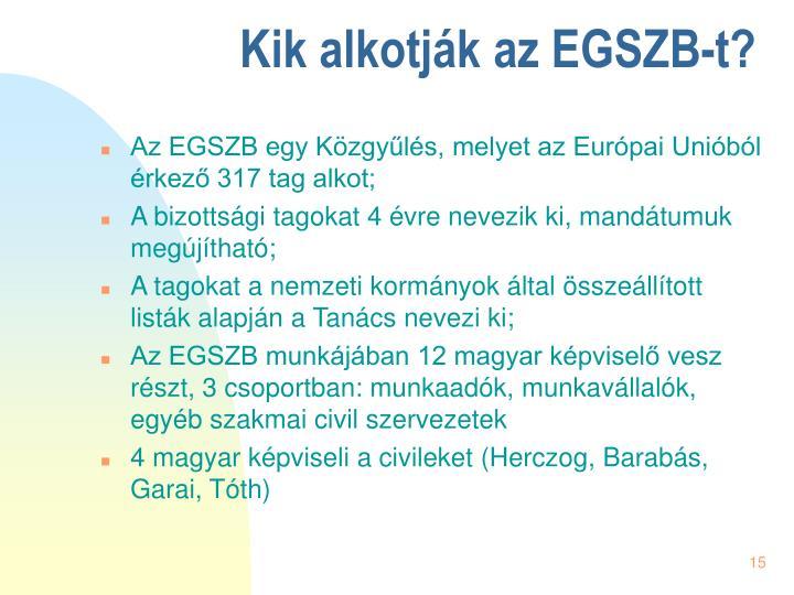 Kik alkotják az EGSZB-t?
