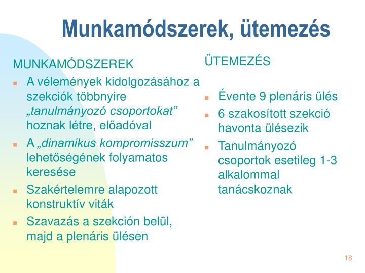 MUNKAMÓDSZEREK