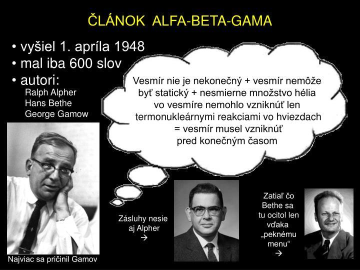 ČLÁNOK  ALFA-BETA-GAMA