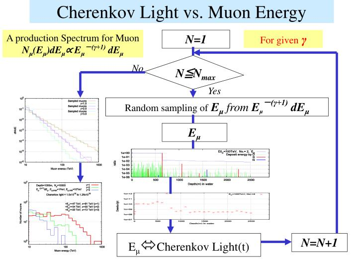 Cherenkov Light vs. Muon Energy