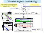 cherenkov light vs muon energy