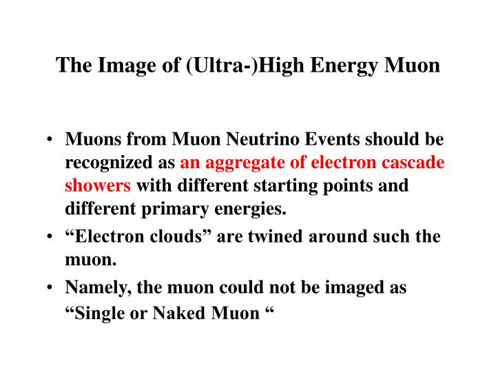 The Image of (Ultra-)High Energy Muon