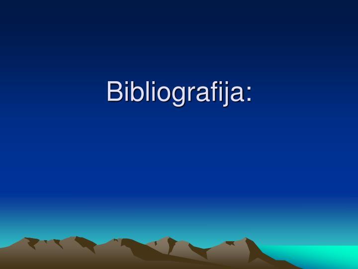 Bibliografija: