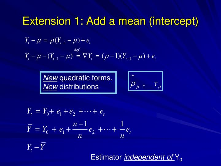 Extension 1: Add a mean (intercept)