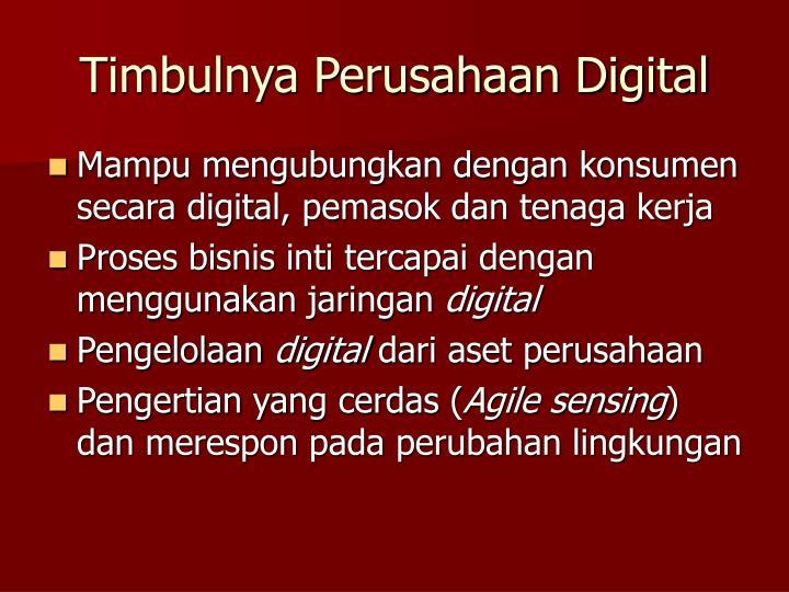 Timbulnya Perusahaan Digital