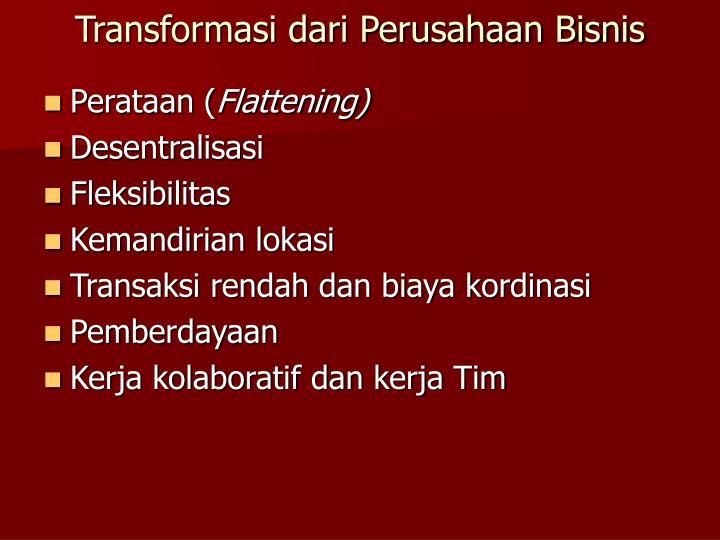 Transformasi dari Perusahaan Bisnis