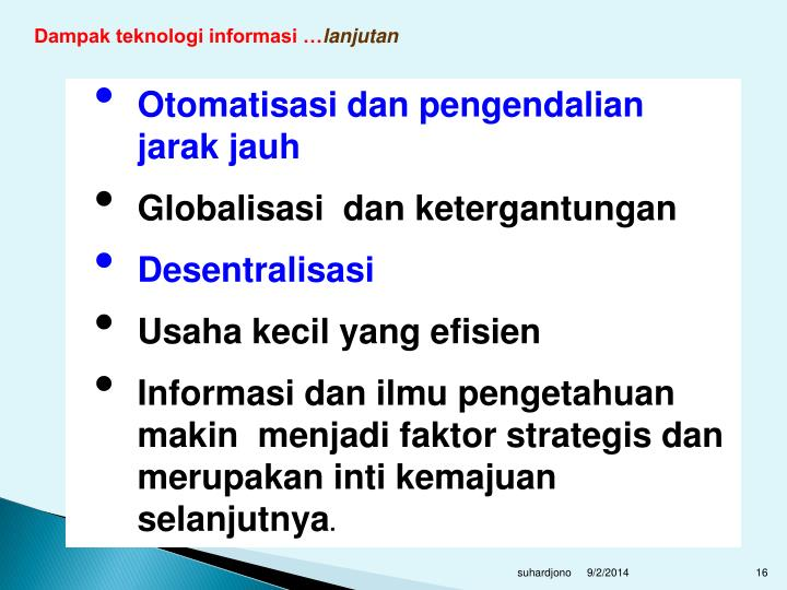 Dampak teknologi informasi …