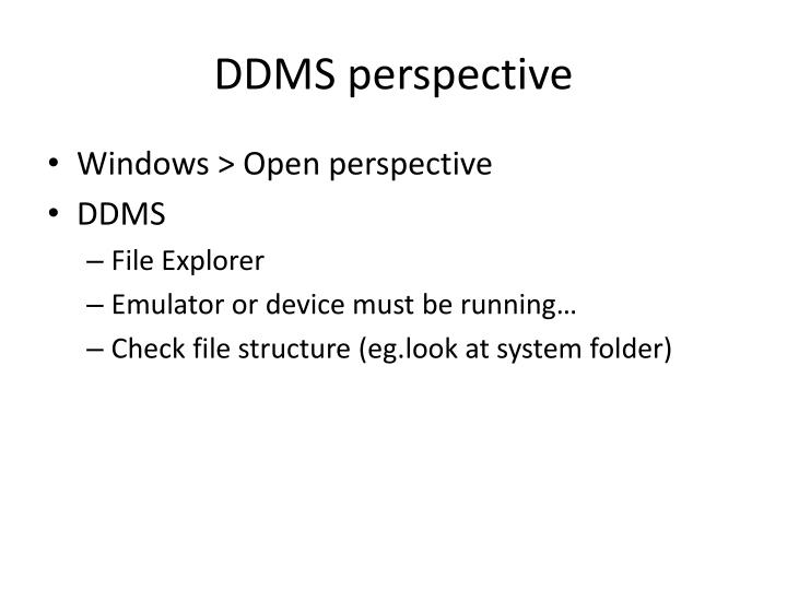 DDMS perspective