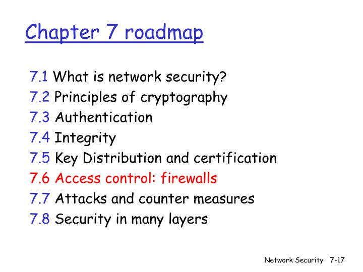 Chapter 7 roadmap