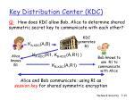 key distribution center kdc1