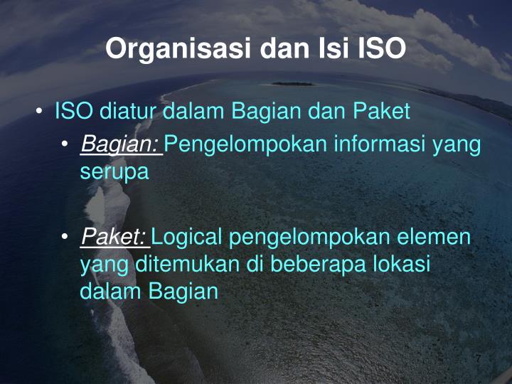 Organisasi dan Isi ISO