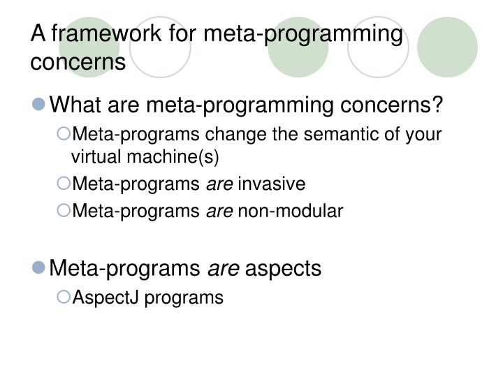 A framework for meta-programming concerns