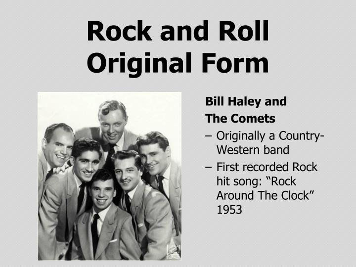 Rock and roll original form