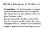 database machines and grosch s law