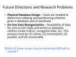 future directions and research problems1